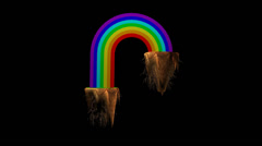 Rainbow Madness - stock footage