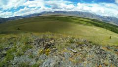 Time Lapse Panorama of Steppe in Mountains - stock footage