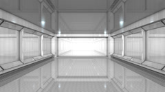 Empty building interior, no people, white, bright, space, background. Stock Footage