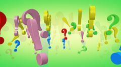 Punctuation marks CG animation - stock footage