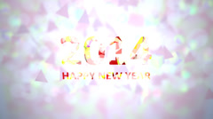 Happy new year 2014 background. Stock Footage