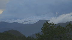 Dramatic sky over the mountains Stock Footage
