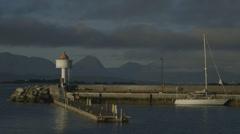 Pier in Molde, Norway Stock Footage
