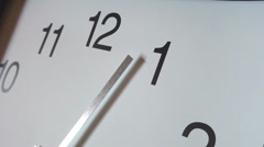 Wall clock moving counter-clockwise - stock footage