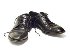 Mens old shoes - stock photo