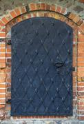Old iron door - stock photo