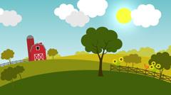 Change of seasons on a farm. Stock Footage