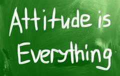 attitude is everything - stock illustration