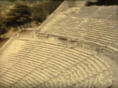 8MM GREECE ancient greek theatre - 1961 Stock Footage