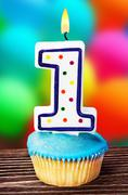 celebration of the first year either for a birthday - stock photo