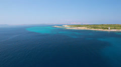 Beach from the mast of a sailboat Stock Footage