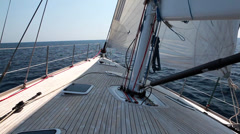 Yacht sail view ahead Stock Footage