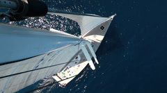 Sailboat from above Stock Footage