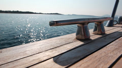 Yacht deck detail - stock footage
