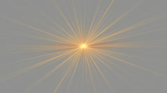 Orange Star Shining on Gray Stock Footage