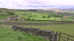 English northern upland farm Stock Footage