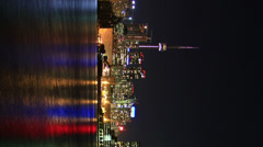 Toronto Night Skyline Timelapse 1 (Vertical) - stock footage