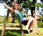 Stock Photo of girl on swing