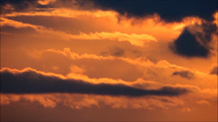 Sunset clouds, orange, time lapse, timelapse. Stock Footage