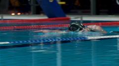 Man crawl swimming - close up Stock Footage