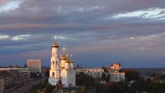 Bryansk Cathedral, Russia at sunset Stock Footage