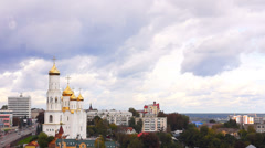 Landscape view of Bryansk Cathedral, Russia Stock Footage