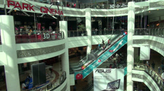 Shopping mall in Baku, Azerbaijan, a fast changing country in South Caucasus Stock Footage