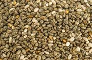 Stock Photo of chia seeds, salvia hispanica