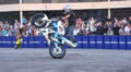 stunts on a motorcycle, Slow Motion 5 Footage
