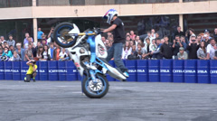 Stunts on a motorcycle, Slow Motion 5 Stock Footage