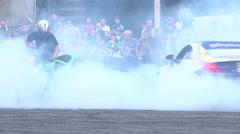 stunts on a sportcar, Slow Motion 3 - stock footage