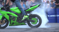 stunts on a motorcycle, Slow Motion 1 Footage