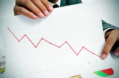 Economic losses Stock Photos