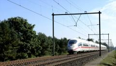 ICE high speed train - stock footage