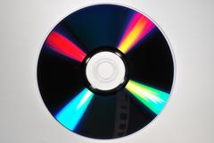 compact disc reflection - stock photo