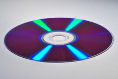 dvd with beautiful reflection - stock photo