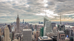 Manhattan, New York City, NYC, USA, Timelapse in 4K Stock Footage