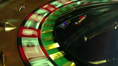 Roulette in the casino Stock Footage