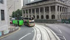 Tram through the streets of Hong Kong - stock footage