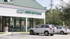 Check N Go cash advance store - stock footage