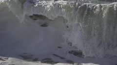Wave breaking Denmark Slomotion 11 Stock Footage