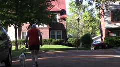 old man jogging - stock footage
