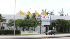 Miami Dade Justice Center Stock Footage