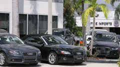 Audi dealership Stock Footage