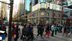 Yonge-Dundas Square Toronto Timelapse 1 (4K) Stock Footage