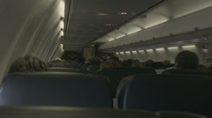 Passangers inside a commercial flight Stock Footage