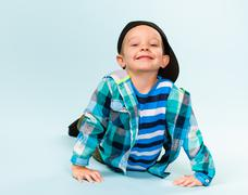 playful little boy - stock photo