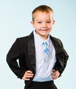 handsome little boy - stock photo