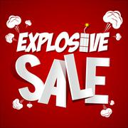 Explosive Sale Stock Illustration