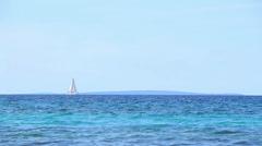 Sails on the Horizon, Left Stock Footage